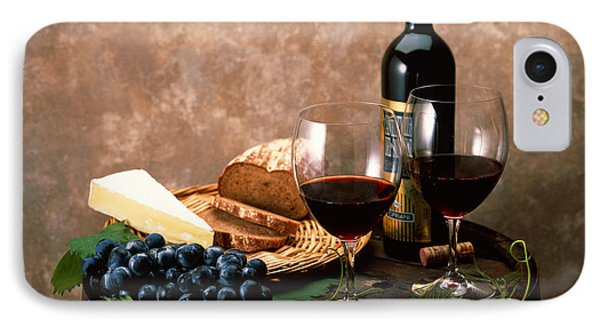 Still Life Of Wine Bottle, Wine IPhone Case by Panoramic Images