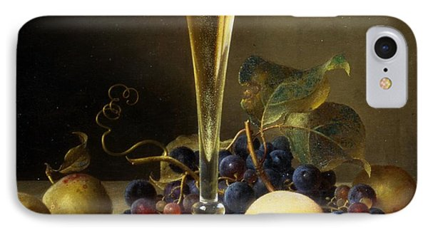 Still Life With A Glass Of Champagne IPhone Case by Johann Wilhelm Preyer