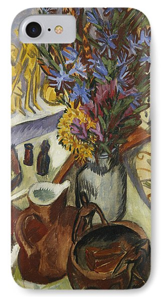 Still Life With Jug And African Bowl IPhone Case by Ernst Ludwig Kirchner