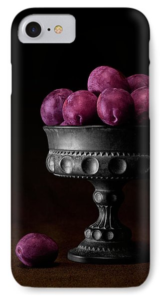 Still Life With Plums IPhone Case by Tom Mc Nemar