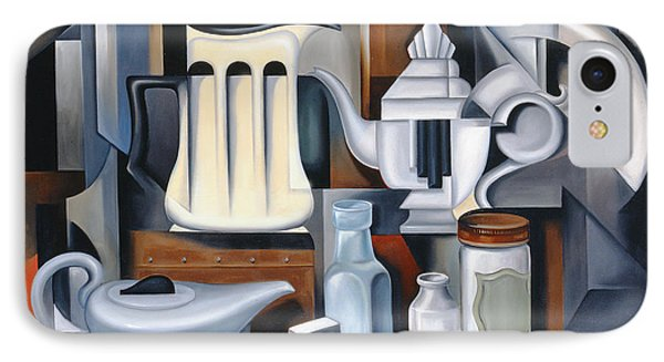Still Life With Teapots IPhone Case by Catherine Abel