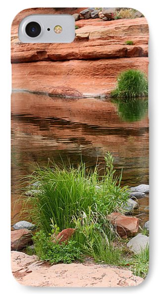 Still Waters At Slide Rock IPhone Case by Carol Groenen