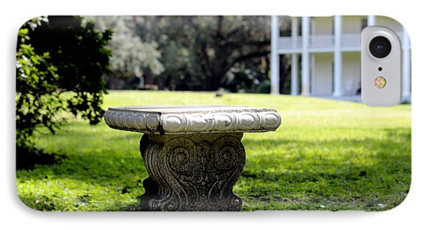 Stone Bench IPhone Case by William Tucker