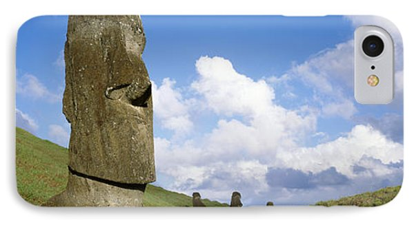 Stone Heads, Easter Islands, Chile IPhone Case by Panoramic Images