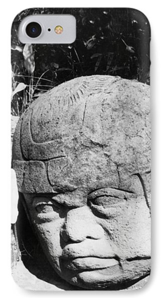 Stone Heads Found In Mexico IPhone Case by Underwood Archives
