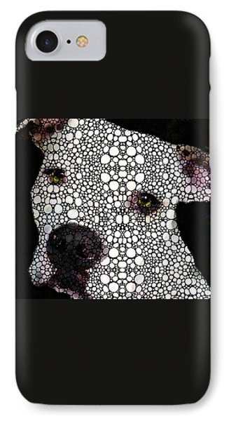 Stone Rock'd Dog By Sharon Cummings IPhone Case by Sharon Cummings