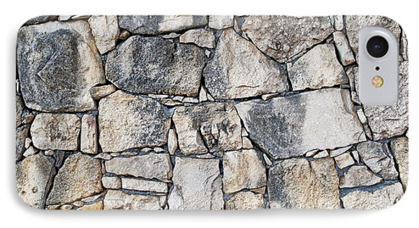 Stone Wall Texture IPhone 7 Case by Antony McAulay