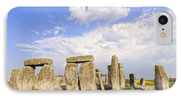 Stonehenge Stone Circle Wiltshire England IPhone Case by Colin and Linda McKie