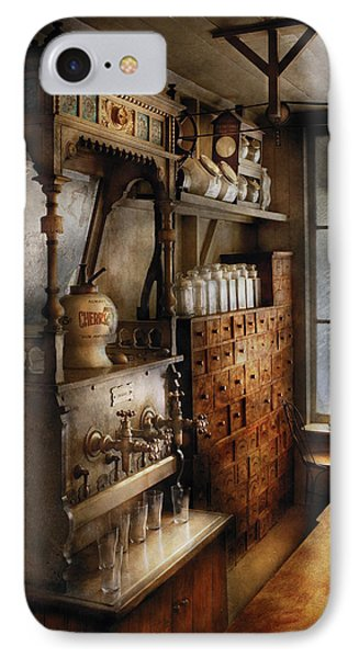 Store - Turn Of The Century Soda Fountain Phone Case by Mike Savad