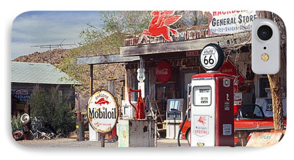 Store With A Gas Station IPhone Case by Panoramic Images