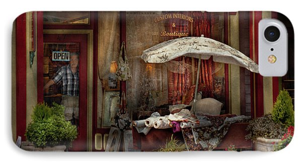 Storefront - Frenchtown Nj - The Boutique Phone Case by Mike Savad