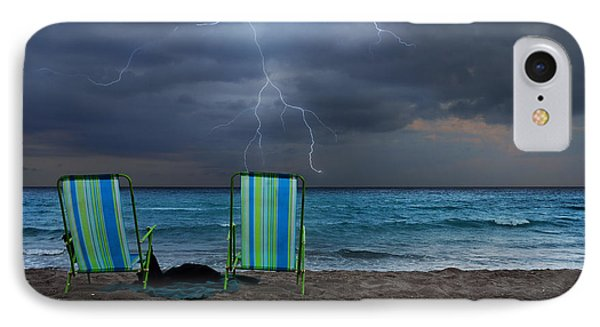 Storm Chairs IPhone Case by Laura Fasulo