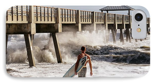 Storm Surfer IPhone Case by Laura Fasulo