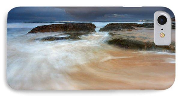 Storm Surge Sunrise IPhone Case by Mike Dawson