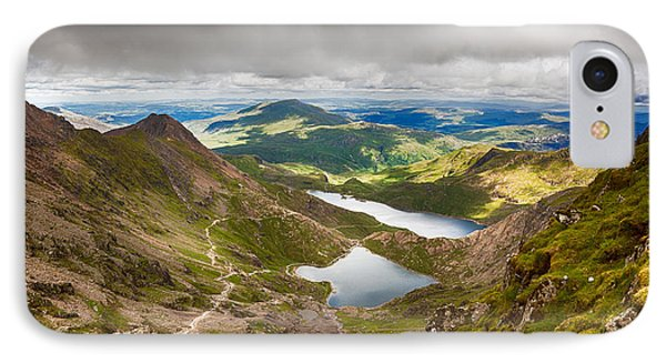 Stormy Skies Over Snowdonia Phone Case by Jane Rix
