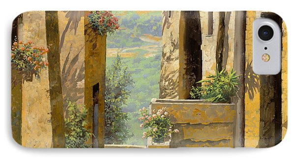 stradina a St Paul de Vence IPhone Case by Guido Borelli