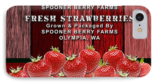 Strawberry Farm IPhone Case by Marvin Blaine