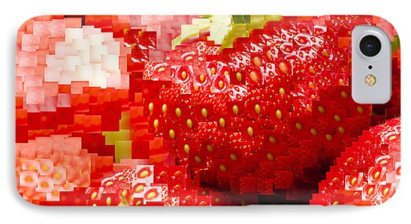 Strawberry Mosaic Phone Case by Anne Gilbert