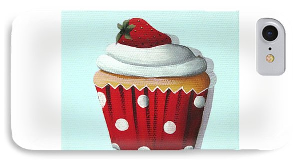 Strawberry Shortcake Cupcake Phone Case by Catherine Holman
