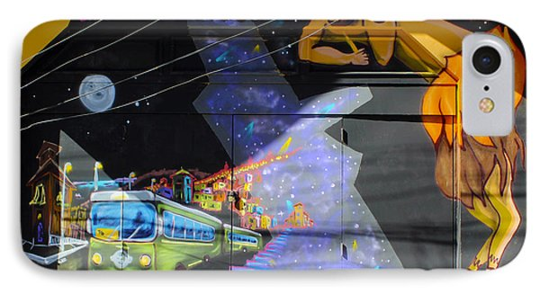 Street Art Valparaiso Chile 5 Phone Case by Kurt Van Wagner
