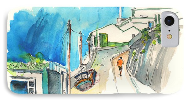 Street In Ericeira In Portugal Phone Case by Miki De Goodaboom