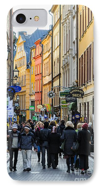 Street In Gamla Stan - The Old Part Of Stockholm - Sweden Phone Case by David Hill