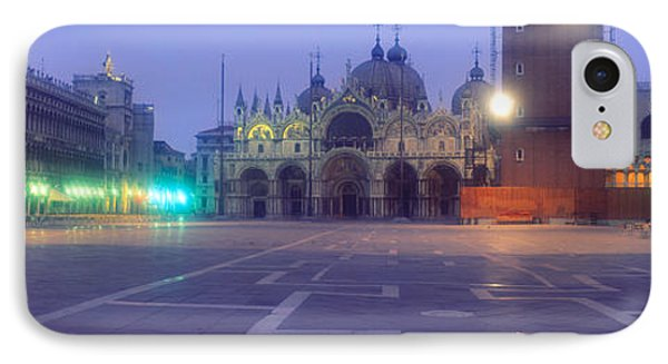 Street Lights Lit Up In Front IPhone Case by Panoramic Images