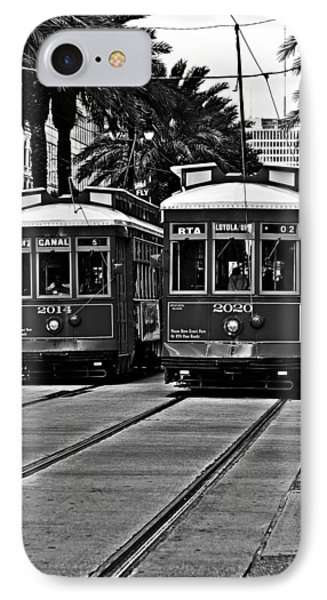 Streetcars New Orleans IPhone Case by Christine Till