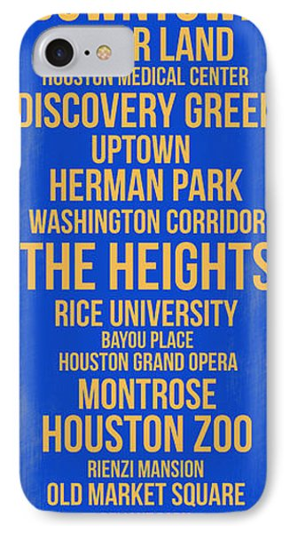 Streets Of Houston 3 IPhone Case by Naxart Studio