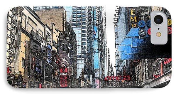 Streets Of New York City 6 Phone Case by Mario Perez