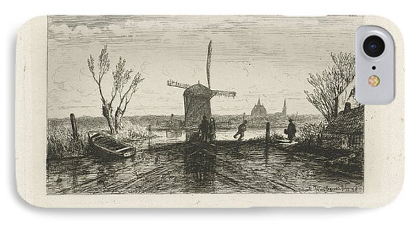 Strider In A Mill, Joseph Hartogensis IPhone Case by Joseph Hartogensis
