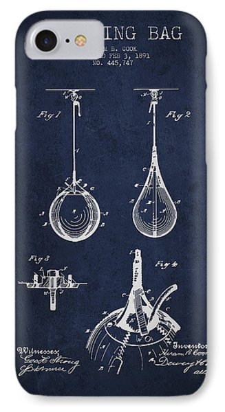 Striking Bag Patent Drawing From1891 Phone Case by Aged Pixel