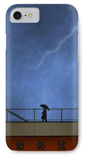 Strolling In The Rain IPhone Case by Juli Scalzi