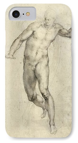 Study For The Last Judgement  IPhone Case by Michelangelo  Buonarroti