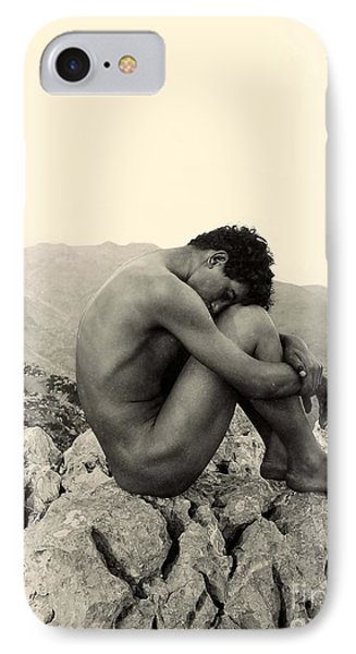 Study Of A Male Nude On A Rock In Taormina Sicily IPhone Case by Wilhelm von Gloeden