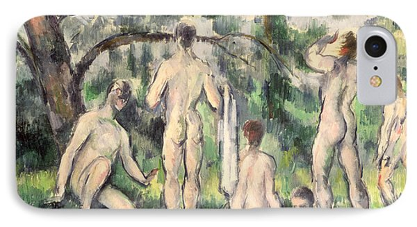 Study Of Bathers IPhone Case by Paul Cezanne