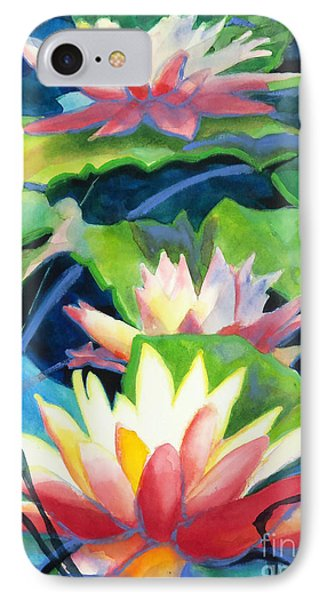 Styalized Lily Pads 3 Phone Case by Kathy Braud