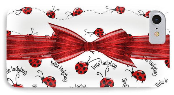 Stylish Ladybugs IPhone Case by Debra  Miller