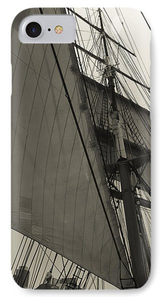 Suare And Triangle Black And White Sepia IPhone Case by Scott Campbell