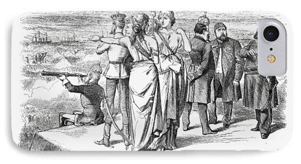Suez Canal Cartoon, 1869 IPhone Case by Granger