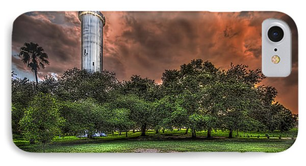 Sulfur Springs Tower IPhone Case by Marvin Spates