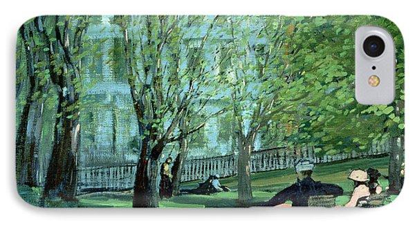 Summer Day Boston Public Garden IPhone Case by George Luks