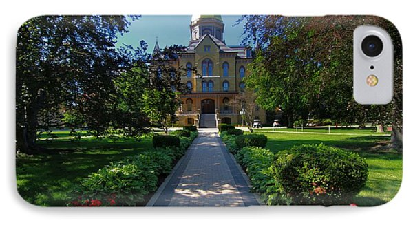 Summer On Notre Dame Campus IPhone Case by Dan Sproul