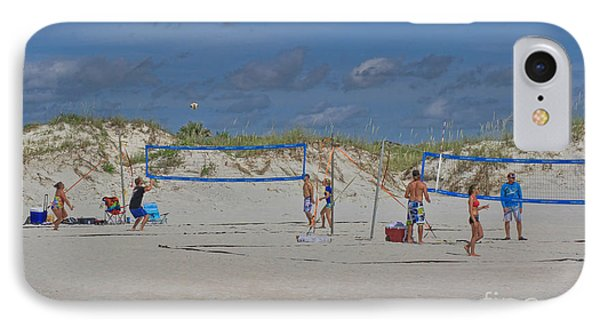 Summer Volley Ball IPhone Case by Deborah Benoit