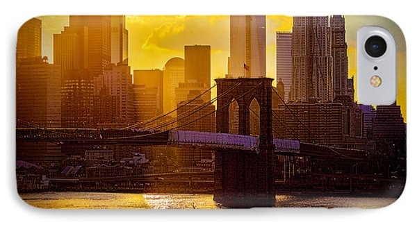 Summertime At The Brooklyn Bridge Phone Case by Chris Lord