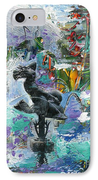 Sun Glitter Mermaid Rides A Dolphin IPhone Case by Genevieve Esson