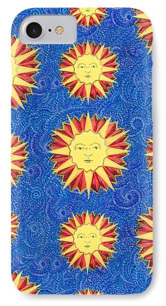 Sun King Textile Pattern Phone Case by John Keaton
