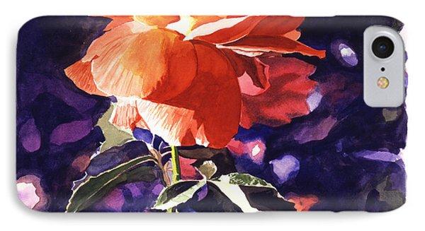 Sun Rose IPhone Case by David Lloyd Glover
