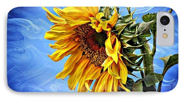 Sunflower Fantasy Phone Case by Barbara Chichester