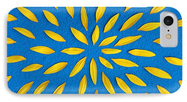 Sunflower Petals Pattern IPhone Case by Tim Gainey